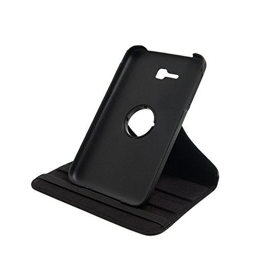 Drehbare Hülle mit Standfunktion für Samsung Galaxy Tab 3 lite 7.0 in SCHWARZ mit automatischer Sleep- und Wake-Up-Funktion [passend für Modell SM-T110, SM-T111, SM-T113, SM-T116]