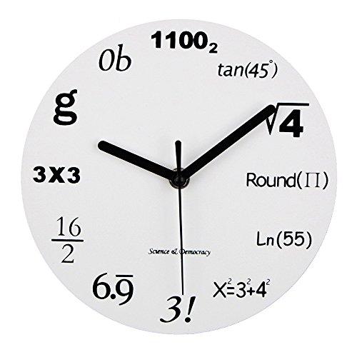 Shhyy orologio da parete moderno design unico matematica equazione ogni ora è caratterizzata da una equazione matematica, 12