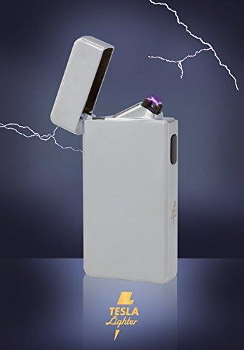 Tesla-Lighter T13 Lichtbogen Feuerzeug Cigar & Cigarette Edition Double-Arc elektronisch wiederaufladbar. Aufladbar per USB mit Strom ohne Gas und Benzin. Mit Ladekabel in edler Geschenkverpackung - verschiedene Farben (B0757W4SN5)