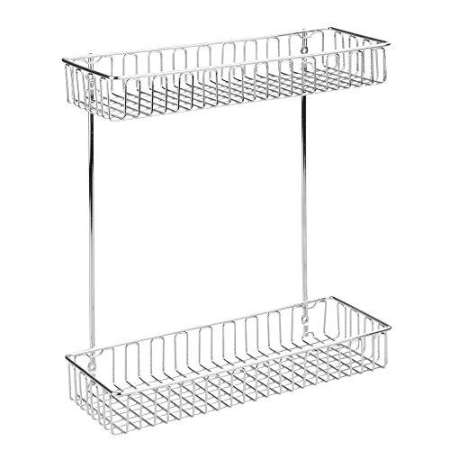 Interdesign 50380eu classico organizzatore 2 livelli da mobile, metallo, argento, 28.95 x 10.6 x 32.8 cm