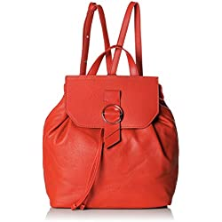 Liebeskind Berlin - Bolso mochila de Cuero Mujer, color Rojo, talla 13x27x35 cm (B x H x T)