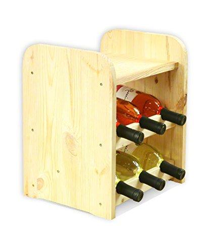 Estantería de botellas de vino Armario Soporte botellero para 6botellas de vino nuevo.