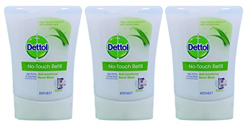 3x-dettol-no-touch-hand-wash-refill-aloe-vera-and-vitamin-e-with-moisturisers-250ml-by-dettol