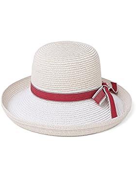 GTYW Señora Señora Señoras Pesca Sombrero Plegable Wide Side Summer Beach Cap Visera Sun Beach Swim Pajarita Sun...