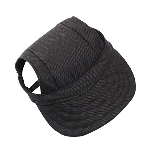 Generic Small Pet Dog Cat Kitten Baseball Hat Neck Strap Cap Sunbonnet S Black