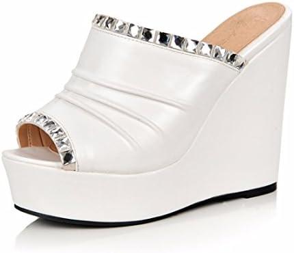 Sandalias de Mujer Zapatos Torta de Pino Americano y Europeo Zapatos Boca de Pescado Sandalias de Tacón, Sandalias...