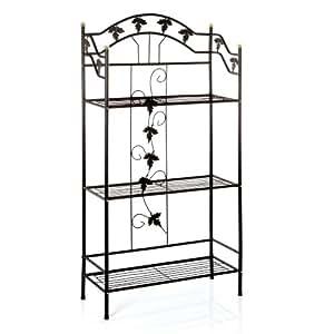 tag re porte plantes 3 niveaux hauteur 145 cm pour jardin ou v randa cuisine. Black Bedroom Furniture Sets. Home Design Ideas