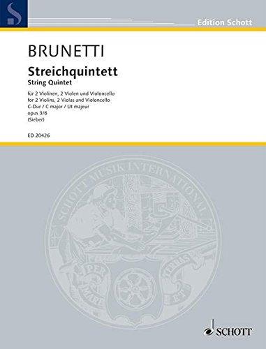 Streichquintett C-Dur: op. 3/6. 2 Violinen, 2 Violen und Violoncello. Partitur und Stimmen. (Edition Schott)