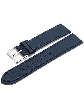 Meyhofer Uhrenarmband Derbyshire 15mm dunkelblau Leder genarbt abgenäht Made in Germany MyGfklc1503/15mm/dblau...