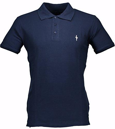 cesare-paciotti-polo-homme-men-t-shirt-100-italy-fashion-pique-stone-washed-vintage-bleu-nuit-l