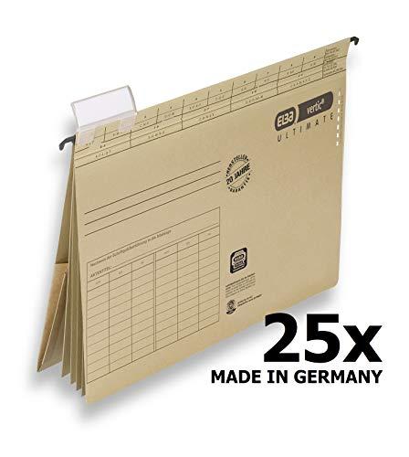 Elba 100082310 Projekt und Personalhefter vertic Ultimate 25er Pack aus Recycling-Karton für DIN A4 Braun Blauer Engel Ideal im Büro und der Behörde