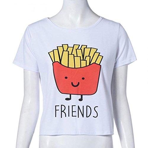 QHGstore Lustiges Druck T Shirt Frauen Baumwollbester Freund T Shirt Oberseiten Kurzschluss Hülsen T Shirt Test