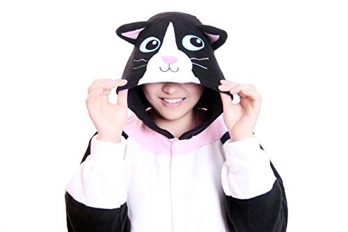 Re-Miss Katze Cosplay Pyjamas Schlafende Kleidung Kigurumi fuer Fancy Dress & Periode Kostüme Halloween Weihnachten (Kostüme Halloween Periode)