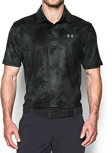 Under Armour UA Playoff Polo Herren Polo-Shirt, Herren, grün/schwarz (Combat Green / Black / Steel) (Under Armour Golf Shirts Grün)