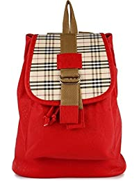 Bags Villa Casual Purse Fashion School Leather Red Backpack Shoulder Bag Mini Backpack For Women & Girls