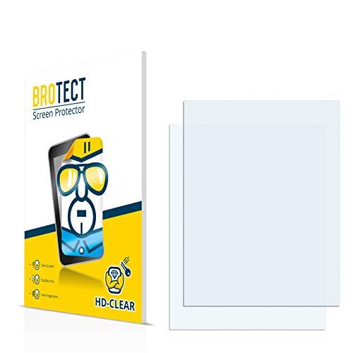 BROTECT für Mitac Mio 339 Schutzfolie [2er Pack] - klare Displayschutzfolie, Crystal-Clear