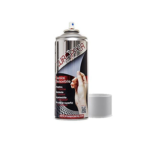 WRAPPER Vernice removibile Wrapping Spray Argento RAL 2905 (Bombolette Spray) / Wrap Removable Coating Silver RAL 2905 (Spray cans)