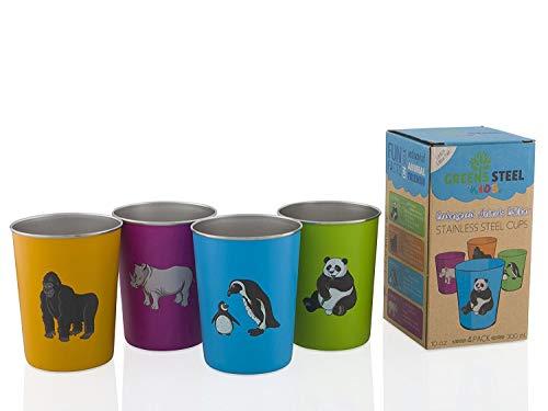 Stainless Steel Cups (10oz Multi (Paquet de 4))