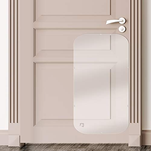 PETFECT Tür-Kratzschutz für Innen & Außen, transparent (90 x 40 cm)