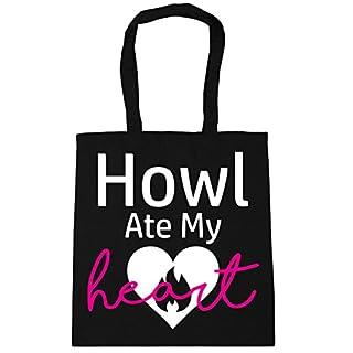 HippoWarehouse Howl Ate My Heart Tote Shopping Gym Beach Bag 42cm x38cm, 10 litres