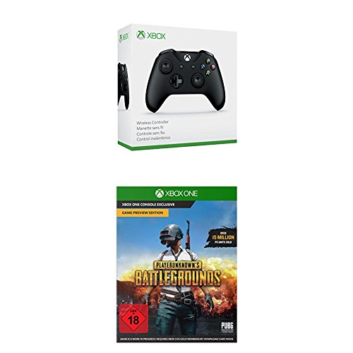 Xbox Wireless Controller (schwarz) + PLAYERUNKNOWN'S BATTLEGROUNDS - Game Preview Edition [Code in The Box]