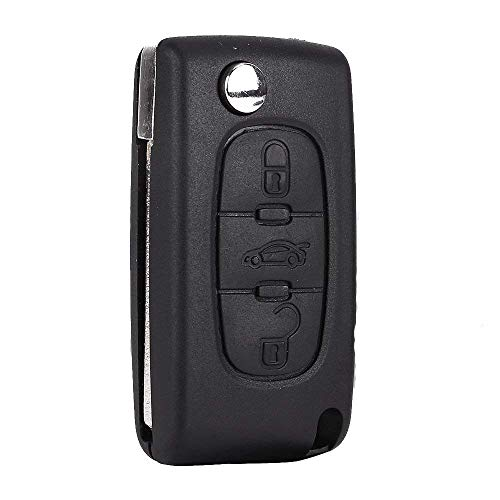 Funda con tapa mando a distancia Carcasa de llave para Peugeot 4073073086073botones ce0523