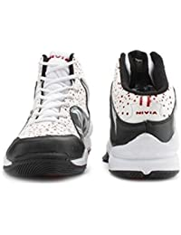 Nivia Heat Basketball Shoes, UK 11 (White/Red)