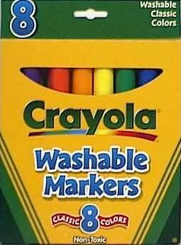 Price comparison product image 5 Each: Crayola Washable Markers (58-7808)
