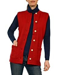Wool Overs Gilet sans manches Guernesey femme en pure laine