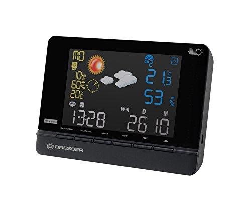 Bresser Funkwetterstation 4CAST CS mit 2 Tagen Meteosat Wetterdienst Vorhersage, schwarz