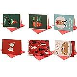 aloiness Set mit 6 außergewöhnlichen Motiven | DIN A6 Postkartenformat | edel fein exklusiv lustig | Grußkarten Weihnachten