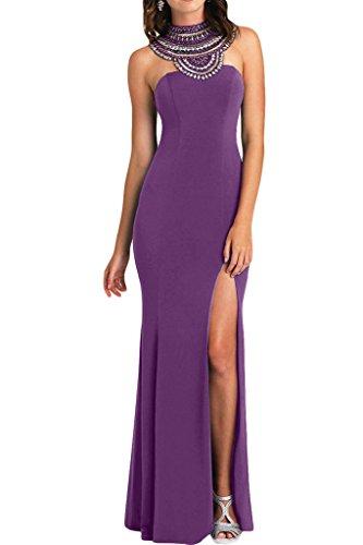 ivyd ressing–Haute Qualité strass fente rueckenfrei mousseline Prom robe Lave-vaisselle robe robe du soir Violet clair