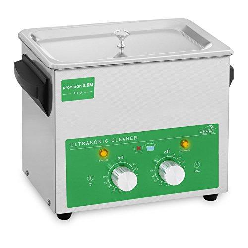 Ulsonix PROCLEAN 3.0M ECO Lavatrice Ultrasuoni Pulitore Ultrasuoni Vasca Ultrasuoni Professionale (3 L, Potenza Ultrasonica 80 W, Potenza di Riscaldamento 155 W, 40 kHz, Timer 60 min, Acciaio Inox)