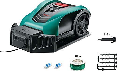 Bosch Indego 350 Connect (mit App Funktion, 19 cm Schnittbreite, Rasenfläche bis zu 350 m²)