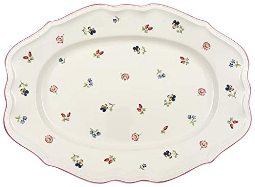 Ovale Platten (Villeroy & Boch Petite Fleur Platte oval, Premium Porzellan, 44cm)
