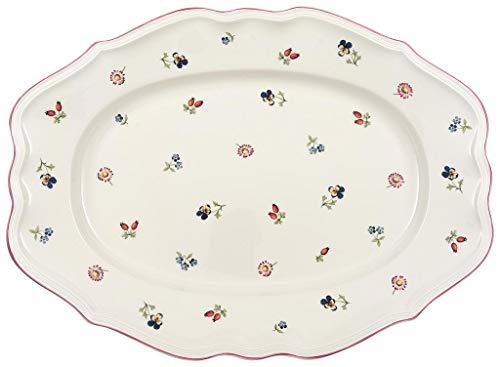 Villeroy & Boch Petite Fleur Platte oval, Premium Porzellan, 44cm Ovale Platte