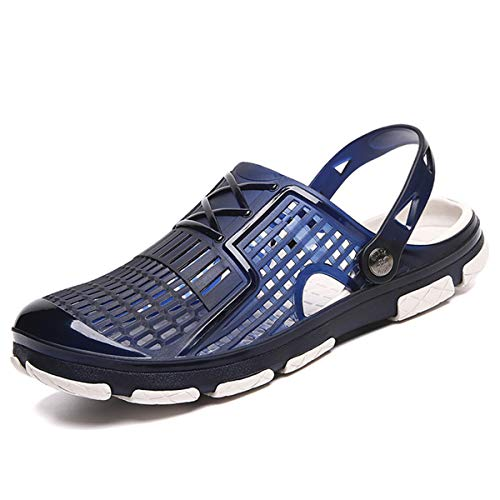 2019 New Summer Jelly Shoes Men Beach Sandals Slippers Men Flip Flops Light Sandalias Outdoor Summer Chanclas Cheap Male Sandals Blue 41