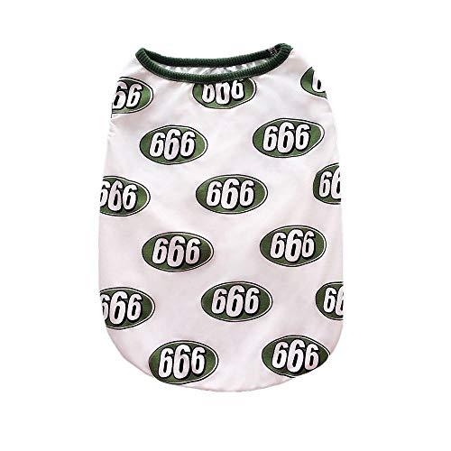 Fett Streifen-baumwoll-shirt (ZLXUEFL HundeshirtHundet-shirtHaustierkleidungHundekleidungWestent-shirtHundekleidungshemd Muster Baumwolle und Fett Hund Bug Weste Sommer Dünnschnitt Baumwolle und Leinen Belüftung @ 666 Weste_XL)