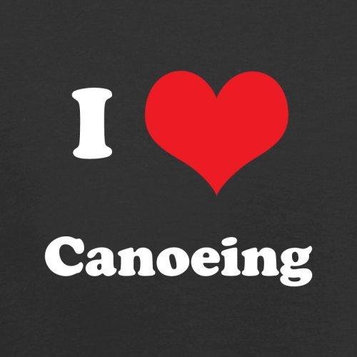 I Love Canoeing - Herren T-Shirt - 13 Farben Schwarz