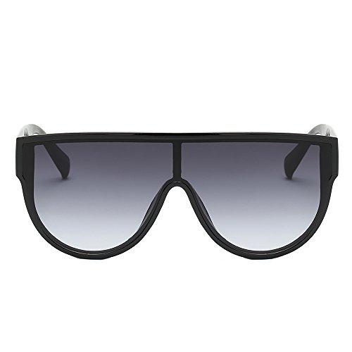 Sonnenbrillen Damen Vintage Unisex Mode Brille Retro Großer Rahmen XXYsm Grau