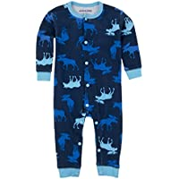Hatley Infant Romper-Blue Moose, Tuta