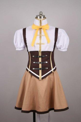 Puella Magi Madoka Magica Tomoe Mami Cosplay Kostüme Brauch (Mailen Sie uns Ihre Größe),Größe S:155-160 (Cosplay Kostüm Mami)