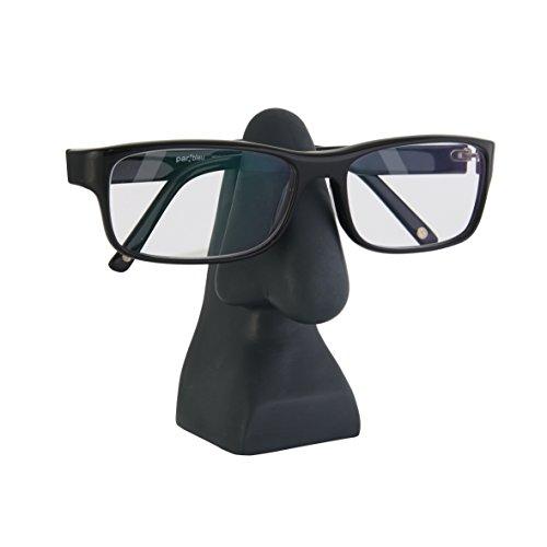 Brillenhalter Nase PVC Brillenständer Sonnenbrillenhalte Brillenaufbewahrung, anthrazit, ca. 10,5 x 4,5 x 4 cm