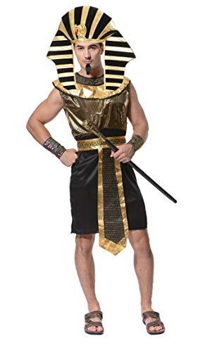 Lovelegis One Size - Ägyptisches Kostüm Priester Pharao Tutankhamun Verkleidung Karneval Halloween Cosplay Zubehör - Männer Junge (Halloween-kostüm ägyptischen Mannes)