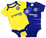 Official Chelsea Football Club New Season Home & Away Kit Twin Pack Bodysuit Baby Grows Size 0-3 Months