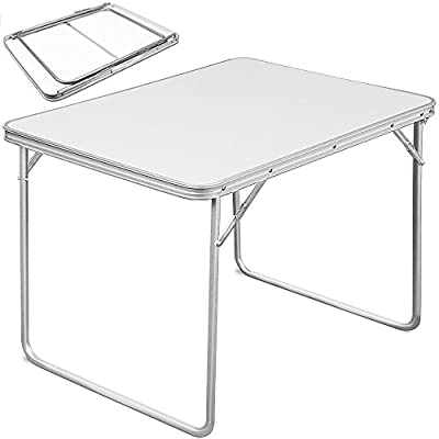 Folding Table Party Table Transportable Garden Dining Aluminium Tables White Jumble Sale Table - cheap UK light shop.
