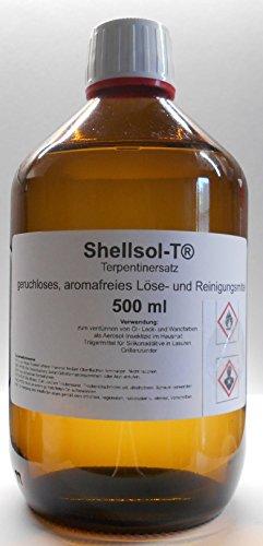500 ml Shellsol-T®,Terpentinersatz, geruchloses, aromafreies Lösemittel und Pinselreiniger...