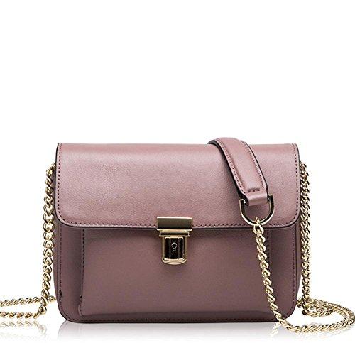 La signora YANX sacchetto di catena in pelle borsetta tracolla signora (20 * 15 * 7 cm) , red Brown