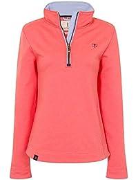 d8945b53d300ac LightHouse Shore Womens Half Zip Cotton Sweatshirt