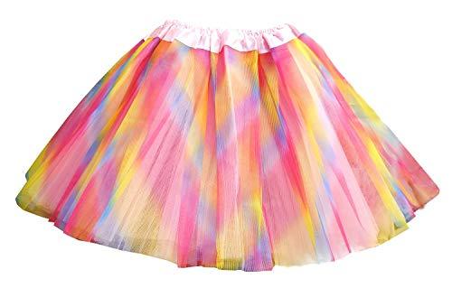 Inception Pro Infinite (Mehrfarbig) 2-5 Jahre - Tutu Rock Tüll 3 Schichten Ballett Klassischer Tanz Bunt Mädchen Cosplay Kostüm Verkleidung Karnevalshow Geschenkidee